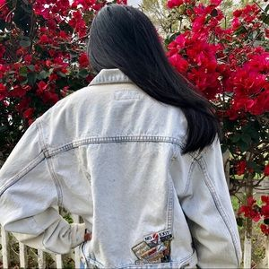 Vintage Jordache No Exit Denim Jean Jacket Cropped